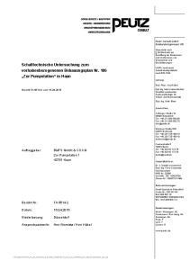 Schalltechnische Untersuchung zum vorhabesbezogenenen Bebauungsplan Nr. 186 Zur Pumpstation in Haan