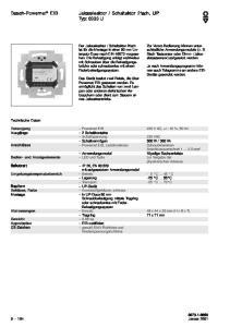 Schaltaktor 2fach, UP Typ: 6933 U