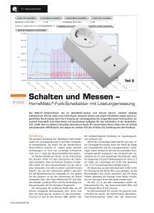Schalten und Messen HomeMatic -Funk-Schaltaktor mit Leistungsmessung