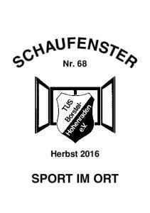 SCHAUFENSTER TuS Borstel-Hohenraden