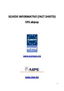 SCHEDE INFORMATIVE (FACT SHEETS) EPS airpop