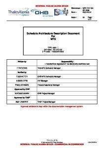 Schedule Architecture Description Document For MTG