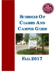 SCHEDULE OF CLASSES AND CAMPUS GUIDE