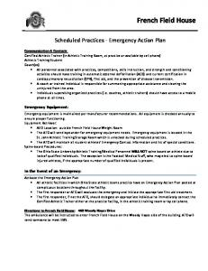 Scheduled Practices - Emergency Action Plan