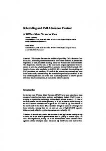 Scheduling and Call Admission Control