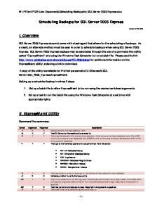 Scheduling Backups for SQL Server 2005 Express