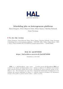 Scheduling jobs on heterogeneous platforms