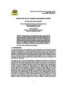 SCHEDULING OF GAS TURBINE COMPRESSOR WASHING