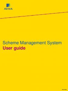 Scheme Management System User guide
