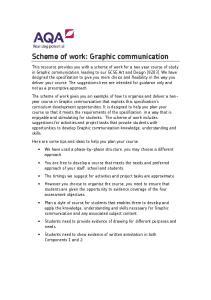 Scheme of work: Graphic communication