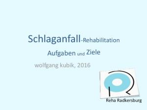 Schlaganfall-Rehabilitation