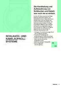 SCHLAUCH- UND KABELAUFROLL- SYSTEME