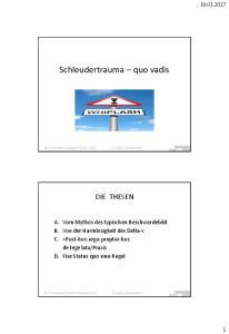 Schleudertrauma quo vadis