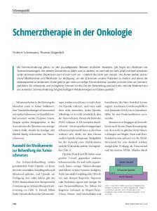 Schmerztherapie in der Onkologie