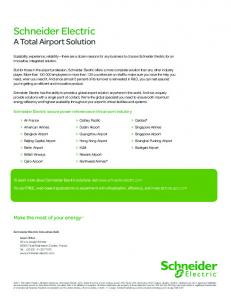 Schneider Electric A Total Airport Solution