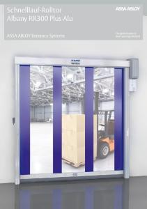 Schnelllauf-Rolltor Albany RR300 Plus Alu. ASSA ABLOY Entrance Systems