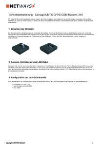 Schnellstartanleitung - Coniugo UMTS GPRS GSM Modem LAN