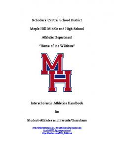 Schodack Central School District. Maple Hill Middle and High School. Athletic Department. Home of the Wildcats