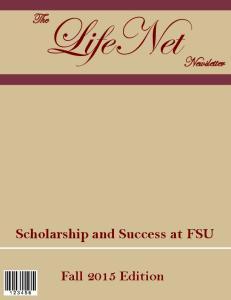 Scholarship and Success at FSU Fall 2015 Edition