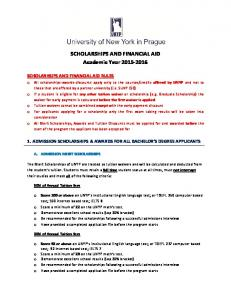 SCHOLARSHIPS AND FINANCIAL AID Academic Year