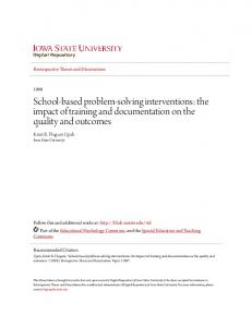 School-based problem-solving interventions: the impact of training and documentation on the quality and outcomes