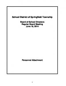 School District of Springfield Township