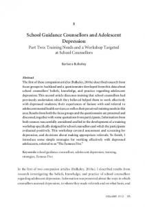 School Guidance Counsellors and Adolescent Depression