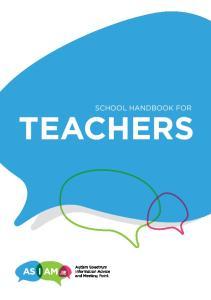 SCHOOL HANDBOOK FOR TEACHERS