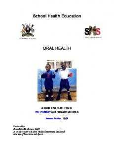 School Health Education ORAL HEALTH