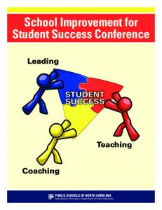 School Improvement for Student Success Conference
