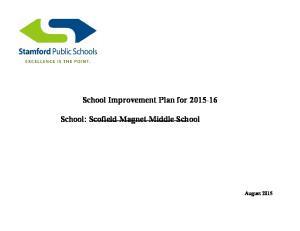 School Improvement Plan for School: Scofield Magnet Middle School