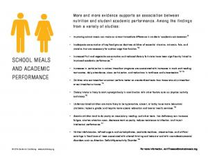 SCHOOL MEALS AND ACADEMIC PERFORMANCE