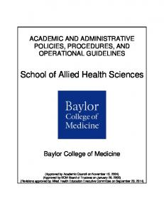 School of Allied Health Sciences