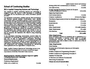 School of Continuing Studies