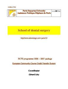 School of dental surgery