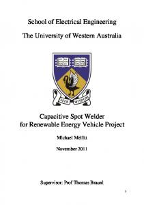 School of Electrical Engineering. The University of Western Australia