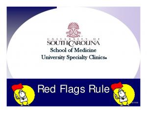 School of Medicine University Specialty Clinics. Red Flags Rule