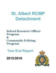 School Resource Officer Program & Community Policing Program