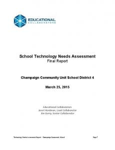 School Technology Needs Assessment Final Report
