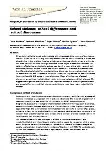 School violence, school differences and school discourses
