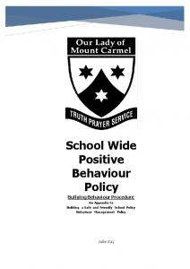 School Wide Positive Behaviour Policy