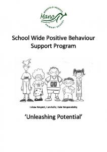 School Wide Positive Behaviour Support Program