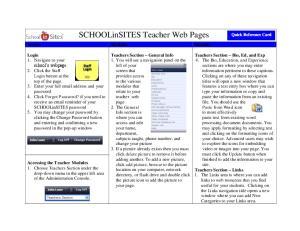 SCHOOLinSITES Teacher Web Pages