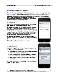 SchoolMessenger for iphone