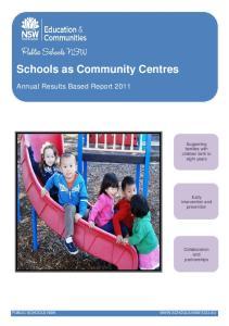 Schools as Community Centres
