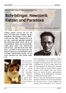 Schrödinger, Newcomb, Katzen und Paradoxa