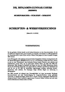 SCHRIFTEN- & WERKVERZEICHNIS
