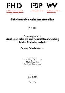 Schriftenreihe Arbeitsmaterialien