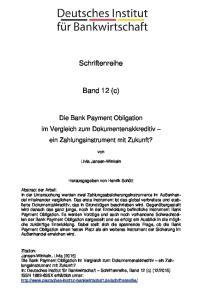 Schriftenreihe. Band 12 (c)