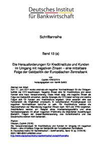 Schriftenreihe. Band 13 (a)